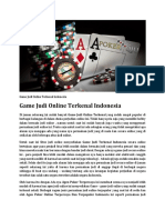 Game Judi Online Terkenal Indonesia