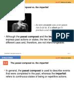 The Passé Composé vs. the Imparfait (1)