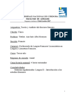 Teoria y Analisis Del Discurso Literario Frances