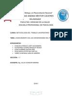 Licenciamiento de Universidades en El Perú (1)