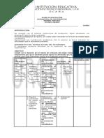 Plan de Nivelacion Grado Ocatvo Primer Periodo 2018