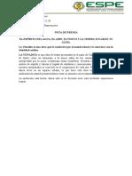 Nota de Prensa La Venadita