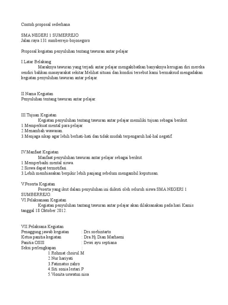 Contoh Proposal Sederhana