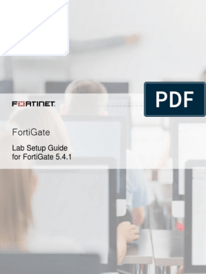 FortiGate Lab Setup Guide(1) | Virtual Machine | Remote Desktop Services