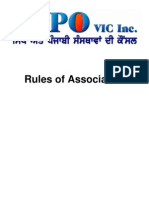 Council of Sikh and Punjabi Organisations of Victoria Inc. Rules of Association