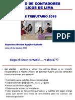 Cierre Tributario 2015 CCPL