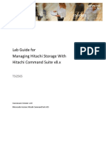 Lab Guide for Managing Hitachi Storage With Hitachi Command Suite v8.x