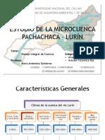 Estudio de La Microcuenca Pachachaca – Lurín