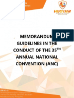 Memorandum Guidelines in the Conduct of the 35th Annual National Convention