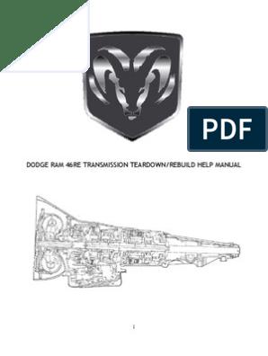 Dodge 46re Transmission Teardown Valve Throttle