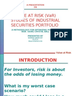 Value at Risk Studies of Industrial Security Portfolio by Naman Swaroop
