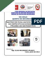 MatrizEvaluacionMatematica5to