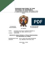 Estudio Geológico Unidad Minera El Porvenir Milpo s.a.a.