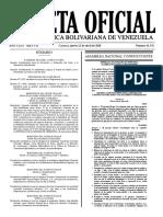 Gaceta Oficial de la República Bolivariana de Venezuela (12 de abril de 2018)