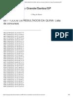 88 – TODOS OS RESULTADOS DA QUINA_ Lista de Concursos _ Bairro Do Campo Grande_Santos_SP
