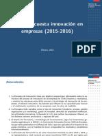 10ma. Encuesta innovación en empresas (2015-2016)
