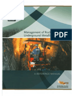 Management of Rockfall Risks in Underground Metalliferous Mines