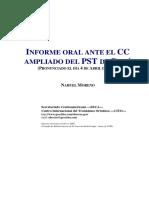 21 - NM - Informe Oral Ante El CC Ampliado Del PST Del Perù