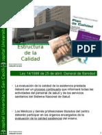 Estructura de Calidad y Comisiones intro web