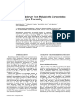 Extraction of Molybdenum From Molybdenite Concentrates