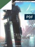 Guia Oficial Final Fantasy Crisis Core [Psp]