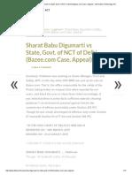 Sharat Babu Digumarti vs State, Govt. of NCT of Delhi (Bazee.com Case, Appeal) - Information Technology Act