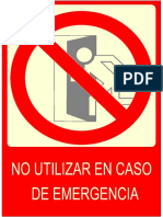 Rotulo Salida Prohibicion