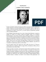 Necrología Gabriel García Marquez