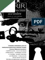 [Spanish Edition] Immanuel Wallerstein - Abrir las ciencias sociales. Informe de la Comision Gulbenkian para la reestructuracion de las ciencias sociales (2007, Siglo XXI).pdf