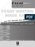 Excel Essay Writing