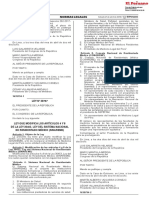 Ley que modifica los artículos 4 y 8 de la Ley 30453 Ley del Sistema Nacional de Residentado Médico (SINAREME)