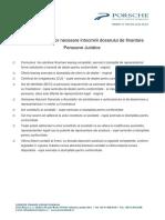 Lista Documentelor Necesare Intocmirii Dosarului de Leasing Pj