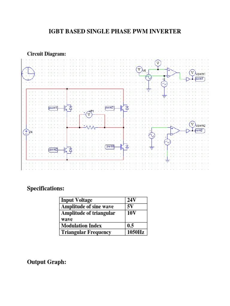 Igbt Based Single Phase Pwm Inverter