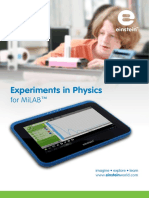 Experiments in Physics for MiLAB