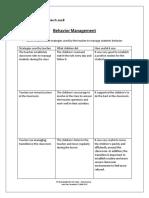 day 8 - behavior management