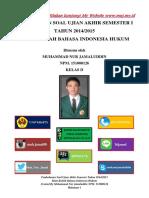 02 Pembahasan Soal Uas i b. Indonesia 2014 2015