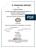 Summer Internship Report on Capital Market