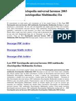 Enciclopedia Universal Larousse 2003 Multimedia Enciclopedias Multimedia