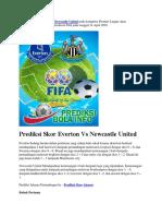 Prediksi Skor Everton vs Newcastle United 24 April 2018