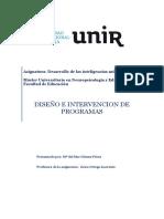 Actividad Diseño e Intervención de Programas