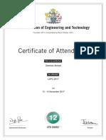 LAPC 2017 Certificate