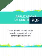 Application Centrifuge