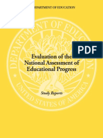 Evaluation of the National Assessment of Educational Progress