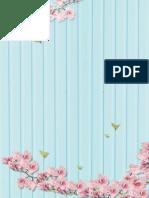 (Artsy Style) Peach Flowers Stationery 02