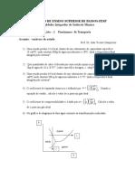 Lista - 2 de FT-FESP- Variaveis de Estado e Aplicações