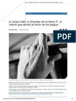 El 'Jaque Mate' a Cifuentes Del Profesor P., El Mismo Que Derribó Al Rector de Los Plagios _ Crónica
