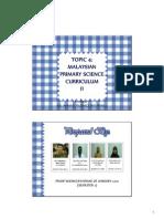 Malaysian Primary Science Curriculum II