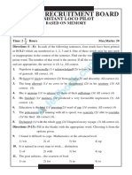 RRB ALP Memory Based Question Paper 1