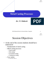 Session-13 Metal Casting Processes