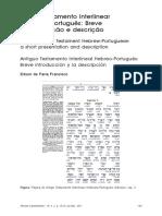 Antigo Testamento Interlinear Hebraico-Portugues B